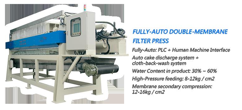 Taiwan Passal CO ,LTD Double-Membrane Filter Press